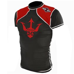 Camiseta Elástica Manga Corta Grappling RASH GUARD RUDE BOYS MMA