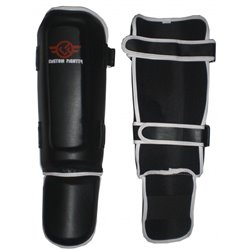 Shinguards BLACK Muay Thai K1 CUSTOM FIGHTER