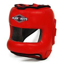 Casco de Boxeo con Barra Frontal RUDE BOYS FULL FACE