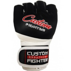 Guantilla Negra Polipiel MMA Custom Fighter