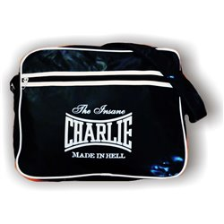CHARLIE Vintage Black Crossbody Bag - Measures 28x37x10cm