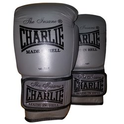 Boxing Gloves CHARLIE GRAFITO Leather Training Muaythai Velcro