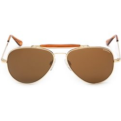 Randolph Sunglasses Pilot Aviator Gold Glasses Lensses