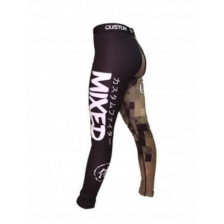 PANTALON LYCRA MIXED CUSTOM FIGHTER MALLAS ENTRENAMIENTO PANTALON ELASTICO MMA SHOR MMA